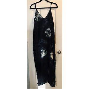 Love stitch Maxi Tie dye dress